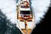 Яхта Ferretti 690 фото с верталета