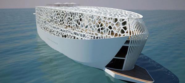 Проект уникальной яхты Voronoi yacht