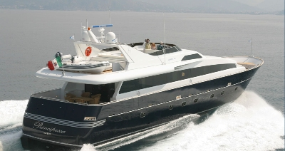 Motoryacht with flybridge from 20 to 47 meters